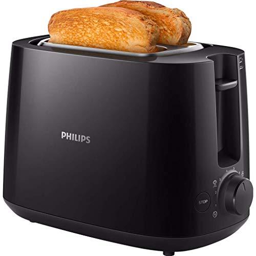 Philips HD2581/90 Toaster, integrierter Brötchenaufsatz, 8...