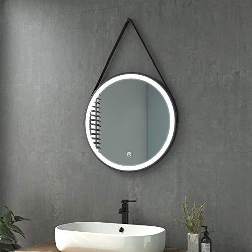 Heilmetz LED Badspiegel mit Beleuchtung Badezimmerspiegel 60cm...
