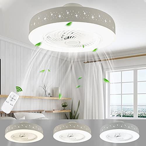 LUTDK 45W LED Deckenventilator Mit Beleuchtung Moderne Invisible Fan...
