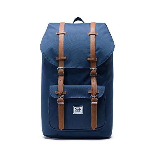 Little America Backpack, Navy/Tan Synthetic Leather Backpack,...