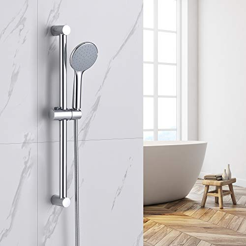 Auralum Chrom Duschset Brausegarnitur ohne Armatur, Duschsystem fürs...