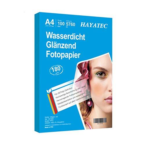 100 Blatt Photopapier A4 hoch glänzend tintenstrahldrucker 180g/m²...
