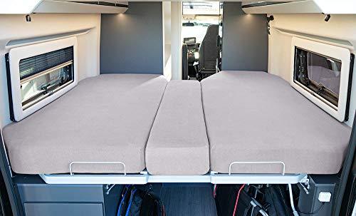 LIVING AIR Wohnmobil Spannbetttuch Set 3 teilig - 2 Längsbetten +...