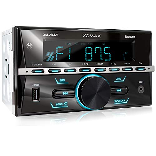 XOMAX XM-2R421 Autoradio mit Bluetooth I RDS I AM, FM I USB, AUX I 7...