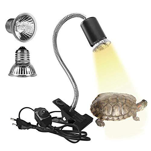 Eilinco Wärmelampe Schildkröte, 25W+50W Reptilien Heizlampe, E27...