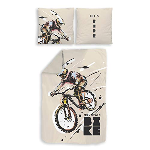 TRAUMHELDEN Bettwäsche 135x200 · Mountainbike Fahrrad · Coole MTB...