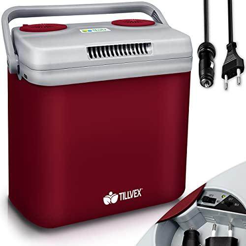 tillvex Kühlbox elektrisch 32L   Mini-Kühlschrank 230 V und 12 V...