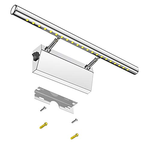 LED Spiegelleuchte Badezimmer, Elekin 6W Bad Spiegellampe, 180°...