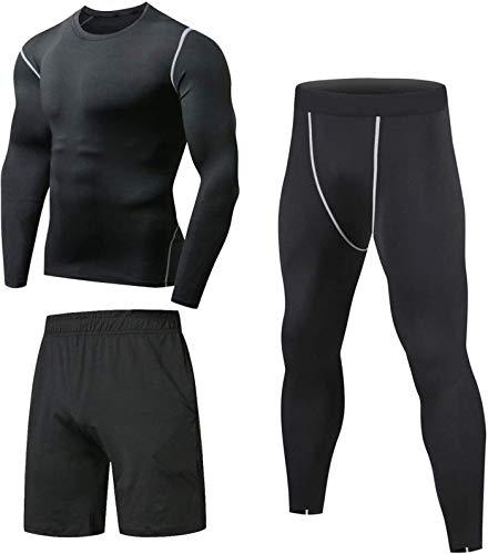 Niksa Sportbekleidung Herren Fitness Bekleidung Trainingsanzug 3pcs...