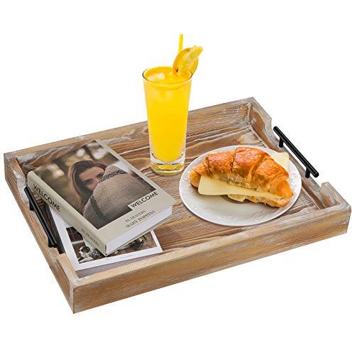 Serviertablett, Tablett aus Holz, Holz Serviertablett, Deko Tablett...