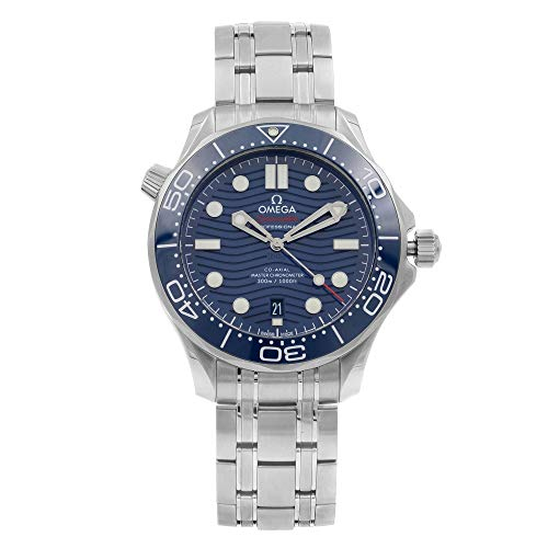 Omega Seamaster Diver 300M Steel Blue Dial Mens Watch...