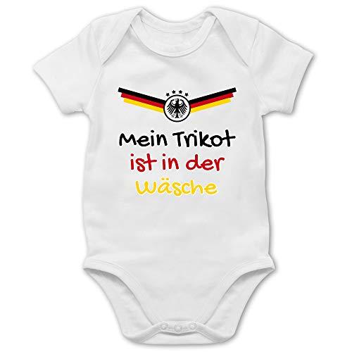 Shirtracer Fussball EM 2021 Fanartikel Baby - Mein Trikot ist in der...