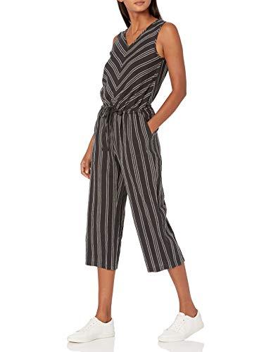 Amazon Essentials Sleeveless Linen Jumpsuits-Apparel, Schwarz...