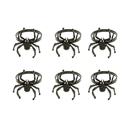YINLANG Ring, 6 Stück Halloween Spinne Serviettenringe Schwarze...