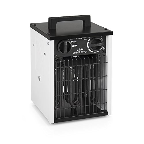 TROTEC Elektroheizer TDS 10 mit 2 kW Heizlüfter Heizgerät Bauheizer...