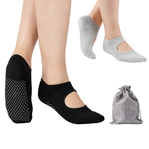 Tusscle Yoga Socken für Damen, Stoppersocken Damen abs Socken Ideal...