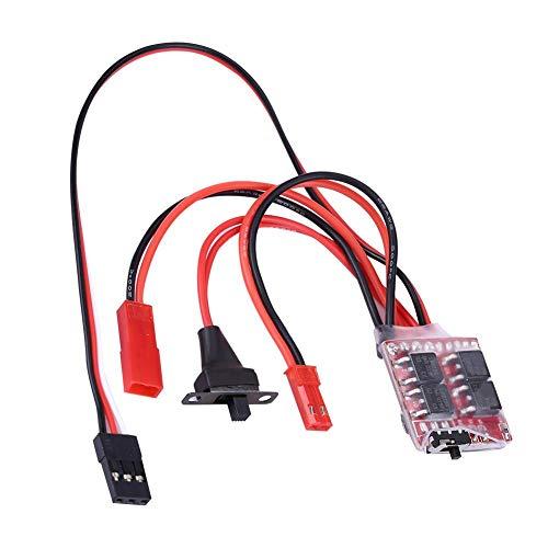 Dilwe RC Auto ESC, 20A Brushed PCB Elektronischer Drehzahlregler mit...