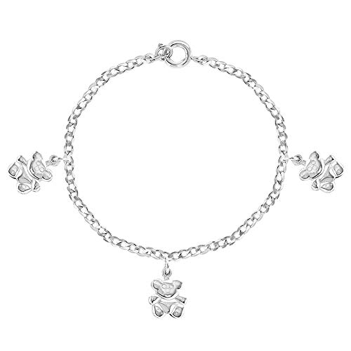 In Season Jewelry 925 Sterling Silber niedlichen 12cm Teddybär Charm...