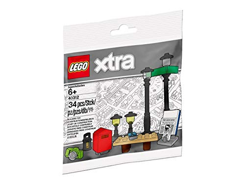LEGO Xtra - Lampen, Laternen, Tisch, Briefkasten, Zeitungsständer -...