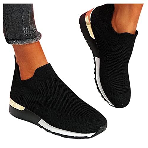 Dasongff Damen Schuhe Slip On Sneakers Freizeit Atmungsaktive Fitness...