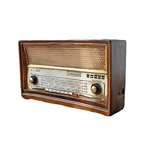 Antike Nachahmung Radio Modell Harz Nostalgie FM Ornamente Handwerk...