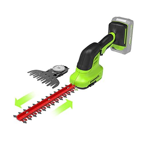 Greenworks Tools 24V Akku-Gras und Strauchschere G24SHT,15cm...