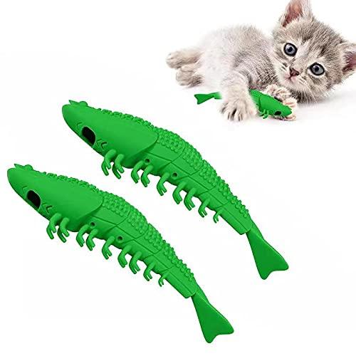 EKKONG Katzen Zahnbürste, Katze Fischform Zahnreinigung Spielzeug,...