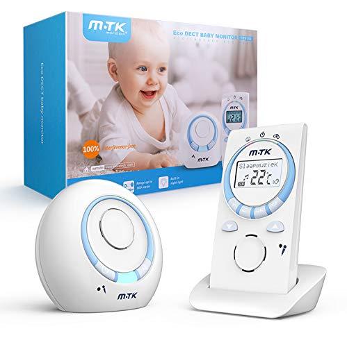 MTK Babyphone,Baby Audio Monitor DECT-Technologie Digital-drahtloser...