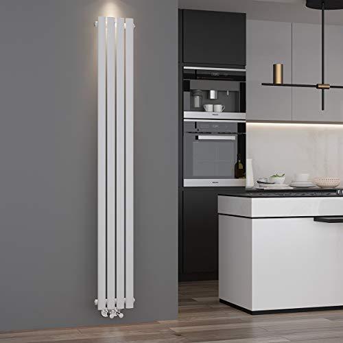 ELEGANT Design Paneelheizkörper Röhren 1800 x 236 mm Weiß Einlagig...