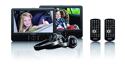 Lenco DVP-939 9-Zoll Tragbares DVD-Player Set unabhängig ansteuerbar...