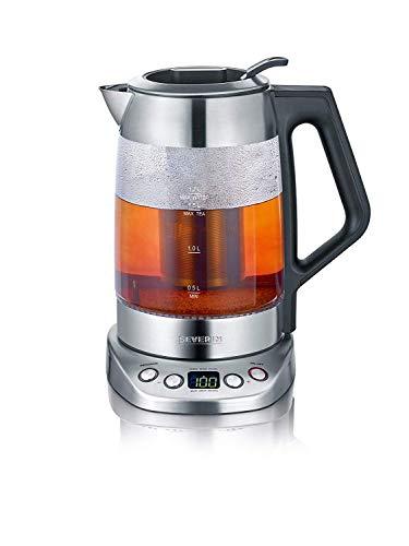 SEVERIN Glas-Tee-/Wasserkocher Deluxe, Mit Temperaturregler (Für 1,7...