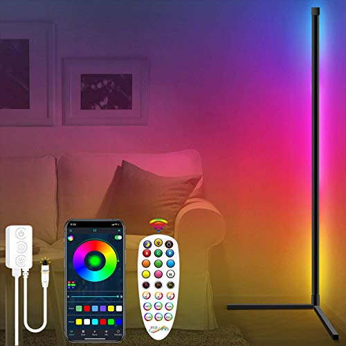 Fortand LED Stehlampe Dimmbar, LED Stehleuchte mit Fernbedienung APP...