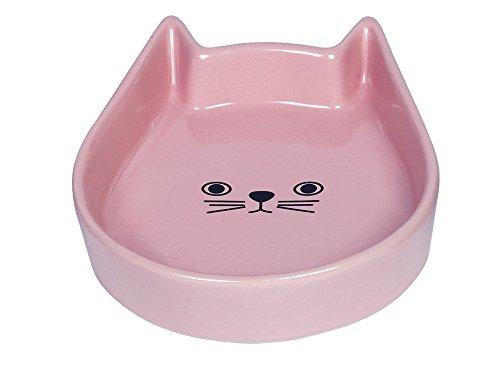 Nobby Katzen Keramik Schale 'Kitty Face' pink 13 x 16 x 3 cm
