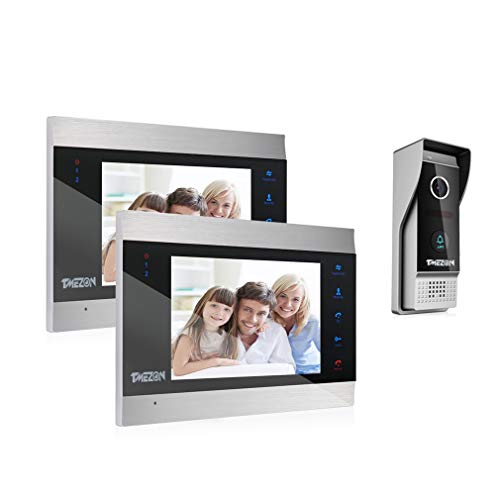TMEZON Video Türsprechanlage Türklingel Intercom System,...