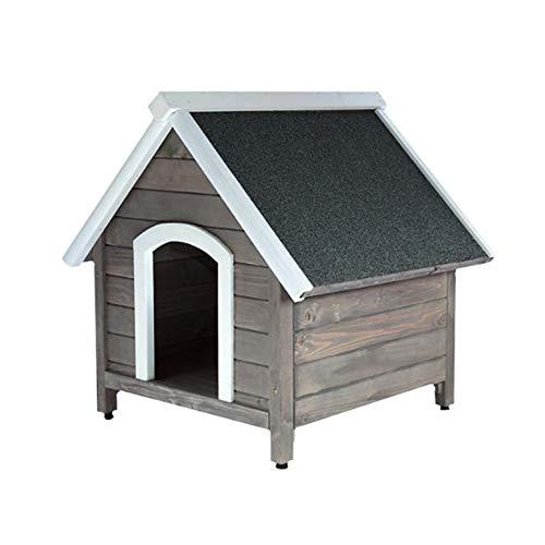 RM E-Commerce Hundehütte Outdoor Garten, Hundehaus aus Holz mit...