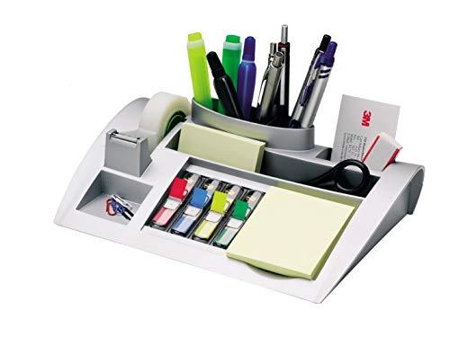 Post-it Tisch-Organizer silber-metallic – Schreibtisch Organizer mit...