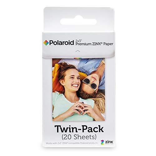 Polaroid 2x3 Zoll Premium ZINK Fotopapier (20 Blatt) - Kompatibel mit...
