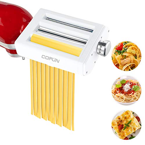 Nudelvorsatz für KitchenAid Küchenmaschine, 3 in 1 Nudelmaschine...