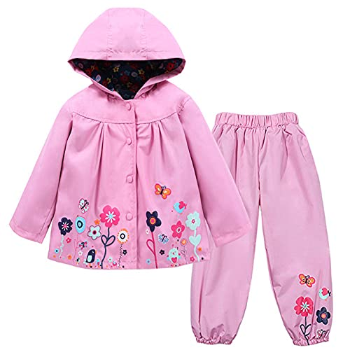 TURMIN Kinder Regenjacke Jungen Mädchen Regenanzug Regenbekleidung...