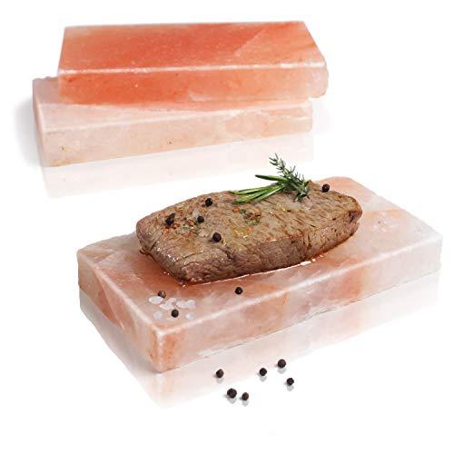 Amazy BBQ Salzstein zum Grillen (3 Stück) – Hochwertiger Grillstein...