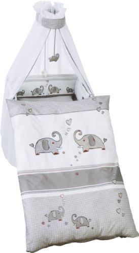 roba Kinder-Bettgarnitur 4-tlg, Babybett-Ausstattung 'Jumbotwins',...