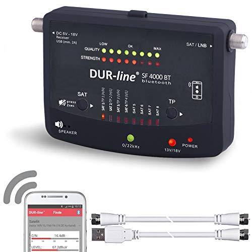 Bluetooth Easy SatFinder - DUR-line SF 4000 BT - mit 8 vor...
