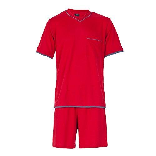 Seidensticker Herren Anzug-Kurz Zweiteiliger Schlafanzug, Rot (rot...
