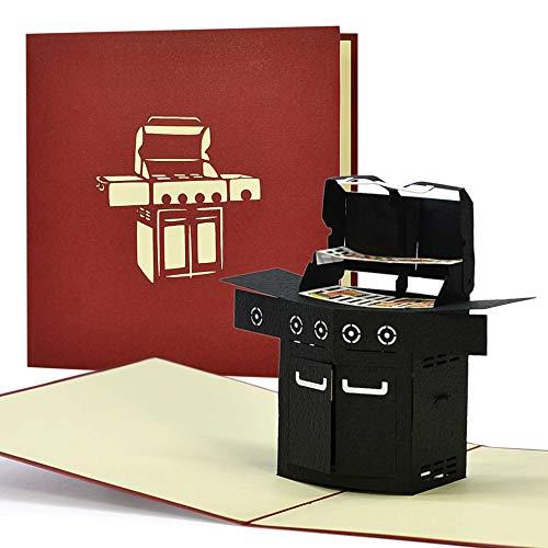 Grillgutschein, Geschenkgutschein, 3D Geburtstagskarte Grillen,...
