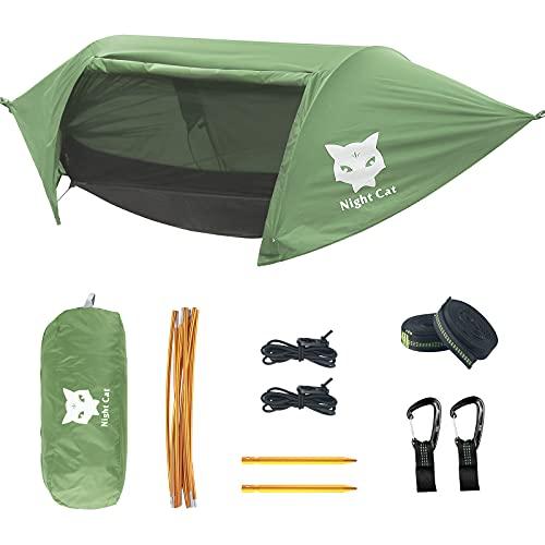 Night Cat Camping Hängematten mit Moskitonetz Zelt und Regenfliege...