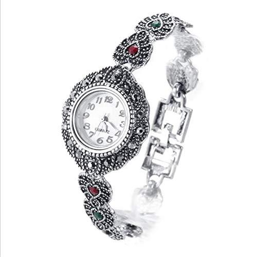 XFYS Mädchen Alter Silber Armband Weiblich Rot Kristall Herz Uhr...