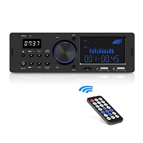 ieGeek Autoradio mit RDS Bluetooth-Freisprecheinrichtung, Duales...