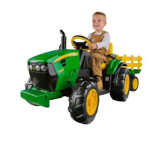 John Deere Ground Force Kinder Elektro Traktor von Peg Perego 12 Volt...