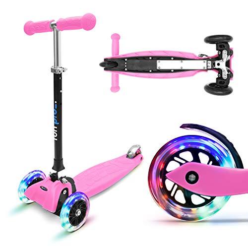 fun pro ONE - der sichere Premium Kinder Roller, LED 3 (DREI) Räder,...