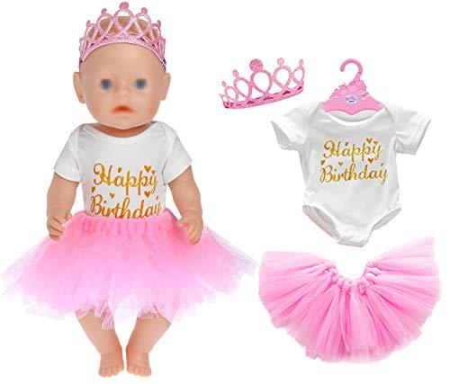 3pc / Set Geburtstag Puppe Kleidung Zubehör gehören Rock Strampler...